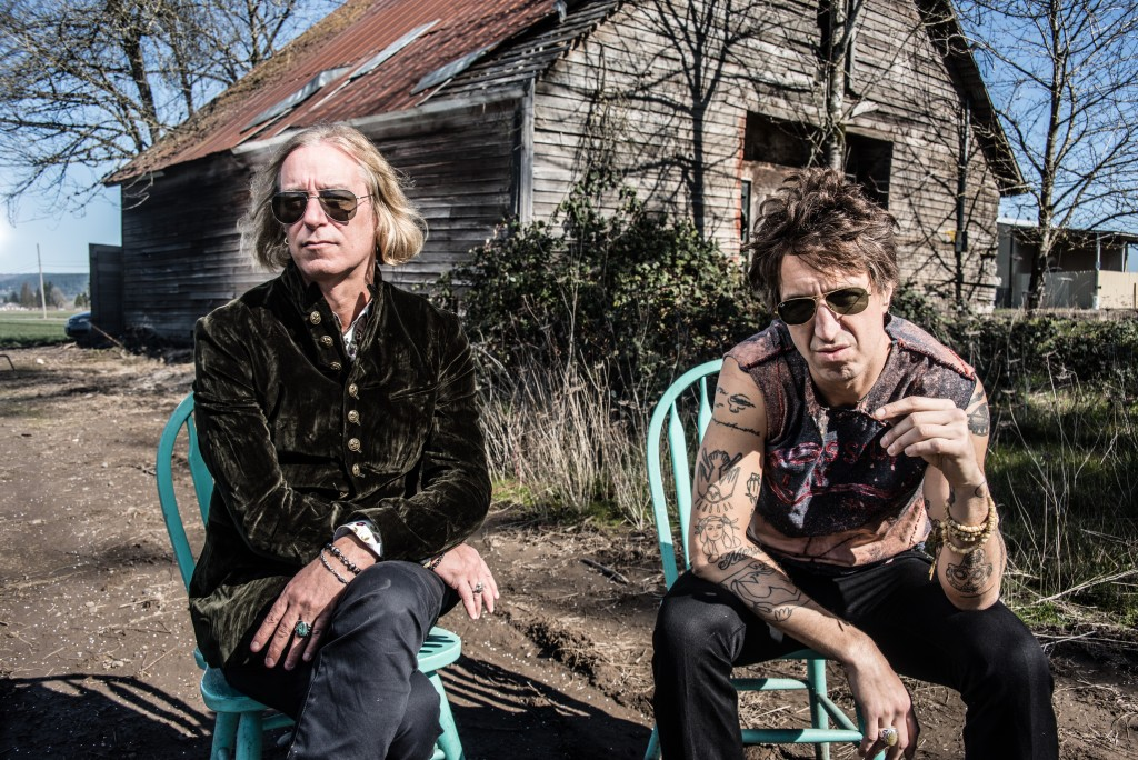 """This undated mage released by New West Records shows Peter Buck, left, and Joseph Arthur who released a collaboration album """"Arthur Buck."""" (Dean Karr/..."""