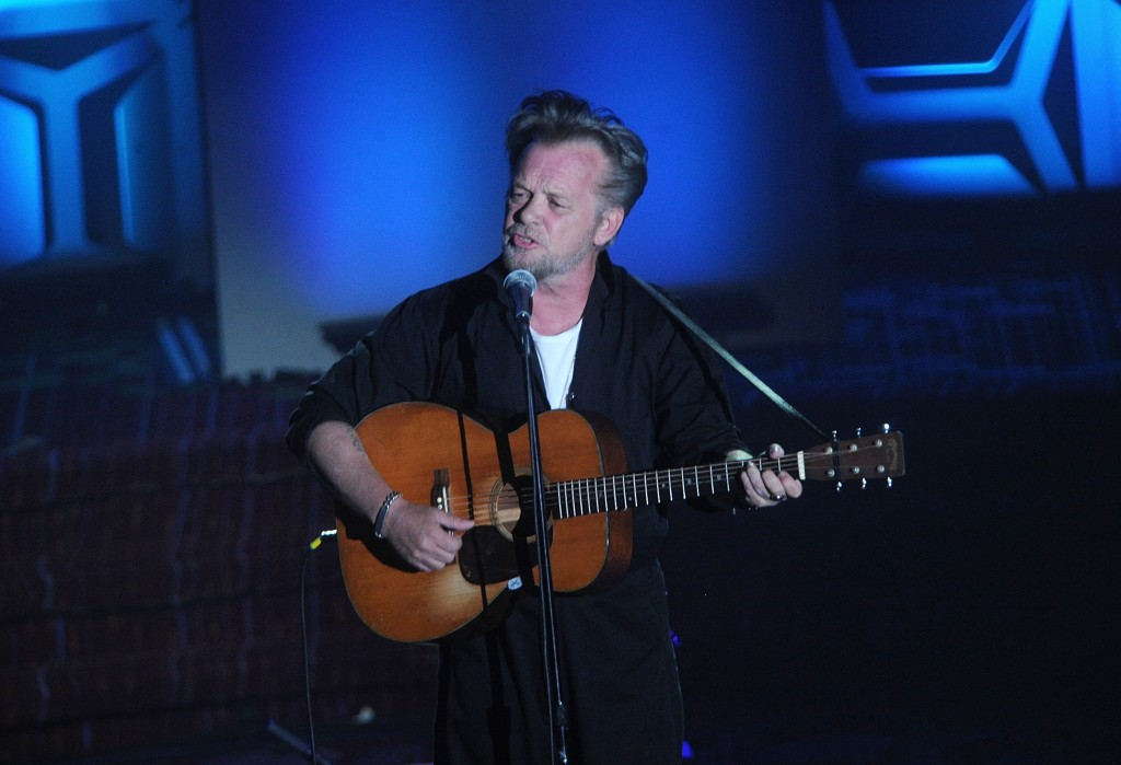 FILE - In this Thursday, June 14, 2018, file photo, John Mellencamp performs on stage during the 49th annual Songwriters Hall of Fame Induction and Aw