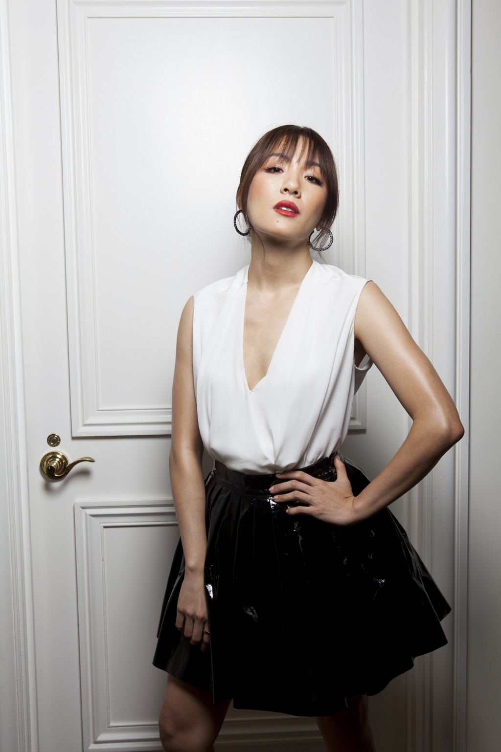 """In this Aug 4, 2018 photo, Constance Wu poses for a portrait at the Beverly Wilshire Hotel in Beverly Hills, Calif., to promote her new film """"Crazy Ri..."""