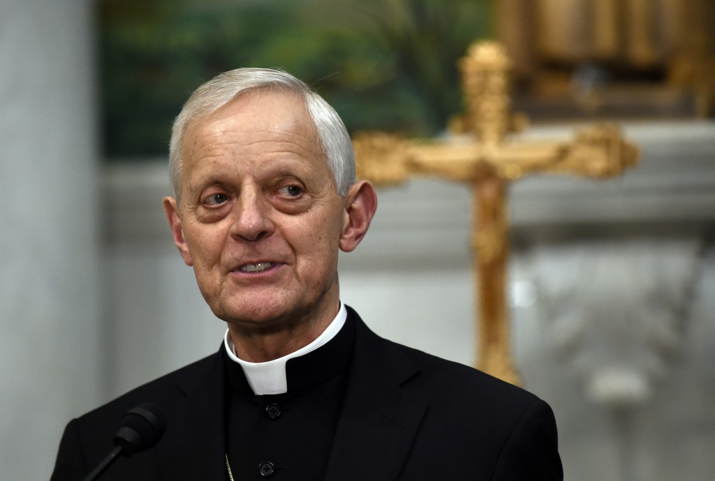File- This June 30, 2015, file photo shows Cardinal Donald Wuerl, archbishop of Washington, speaking during a news conference at the Cathedral of St. ...