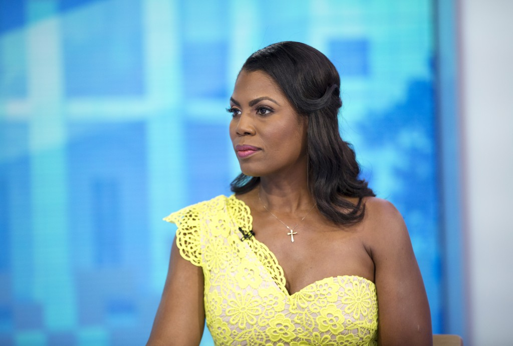 "This image released by NBC Today shows reality TV personality and former White House staffer Omarosa Manigault Newman during an interview on the ""Toda..."