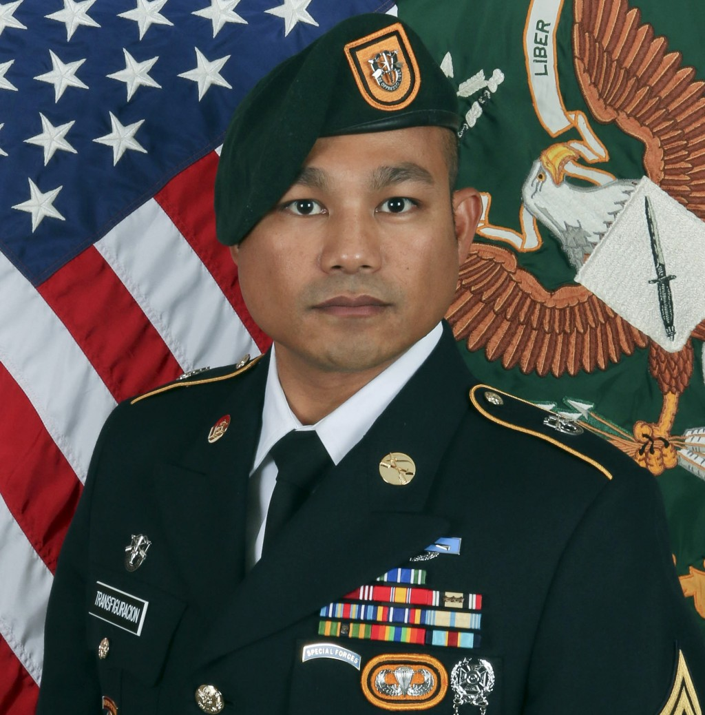 This image proved by the Army show Sgt. 1st Class Reymund Rarogal Transfiguracion, 36, from Waikoloa, Hawaii. The U.S. military says the Army special ...