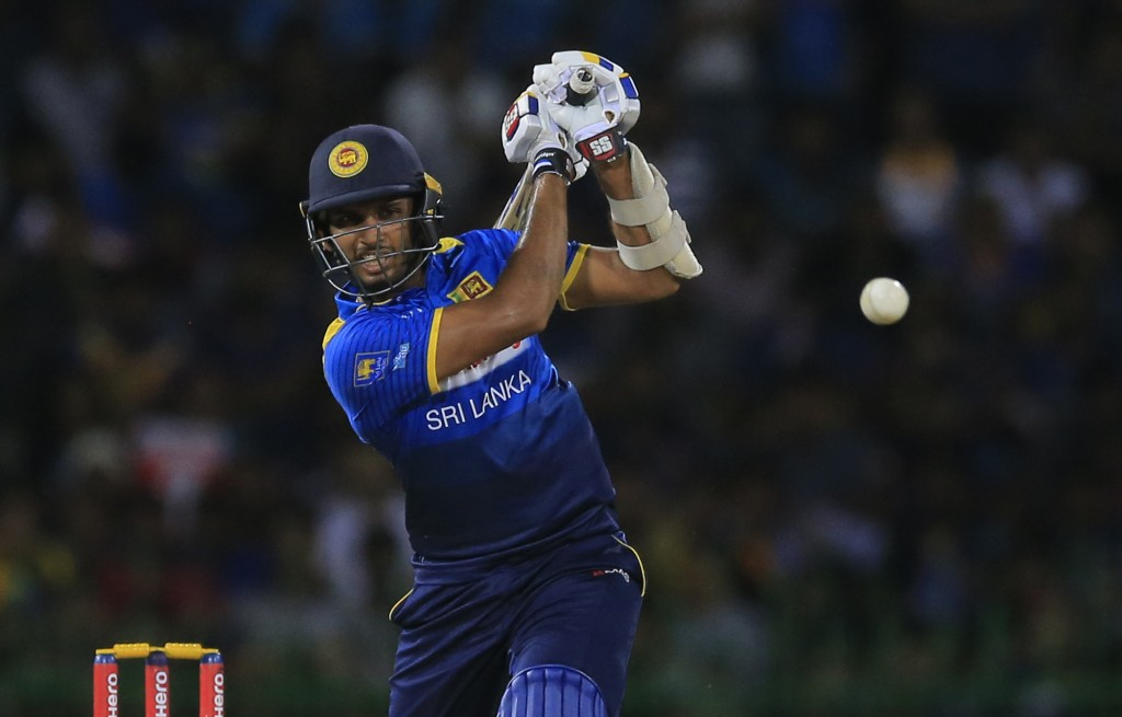 Sri Lanka's Dasun Shanaka plays a shot against South Africa during their Twenty20 cricket match in Colombo, Sri Lanka, Tuesday, Aug. 14, 2018. (AP Pho...