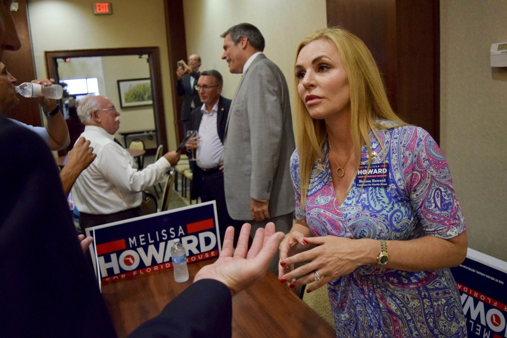 In this Tuesday, July 17, 2018 file photo, Melissa Howard who is running for the District 73 State House seat being vacated by state Rep. Joe Gruters ...