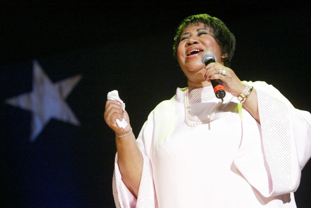 FILE - In this June 4, 2005 file photo, Aretha Franklin performs at the McDonald's Gospelfest 2005 in New York. The event celebrates gospel music and ...