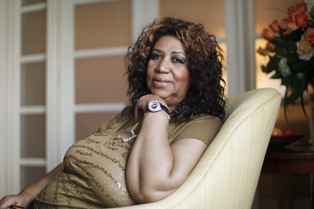 FILE - In this July 26, 2010 file photo, soul singer Aretha Franklin poses for a portrait in Philadelphia. Franklin died Thursday, Aug. 16, 2018 at he...