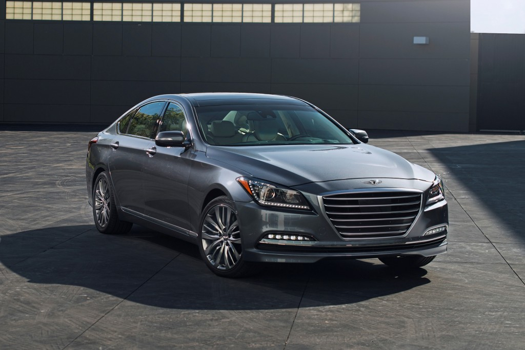 This photo provided by Hyundai shows the 2015 Genesis sedan. The Genesis is a true luxury competitor. It has a comfortable interior trimmed in premium...