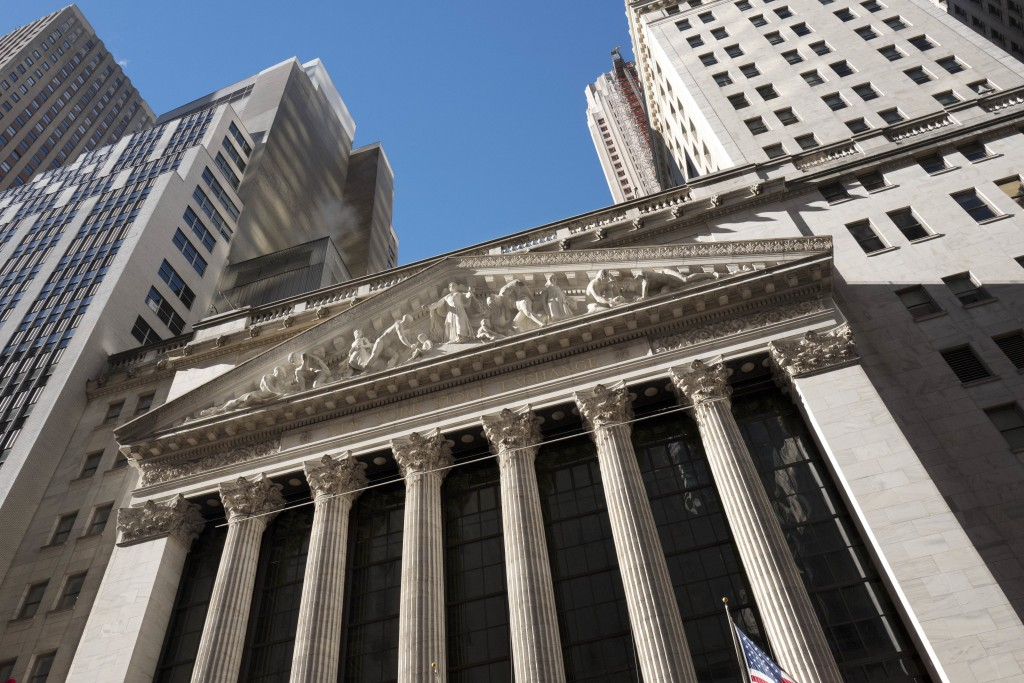FILE- In this Dec. 21, 2016, file photo, the New York Stock Exchange is shown. The U.S. stock market opens at 9:30 a.m. EDT on Wednesday, Aug 15, 2018...