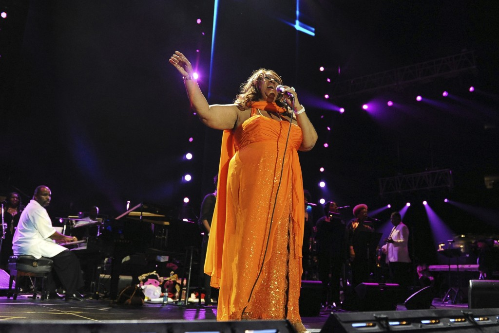 FILE - In this July 8, 2012 file photo, Aretha Franklin performs at the Essence Music Festival in New Orleans. Franklin died Thursday, Aug. 16, 2018 a...