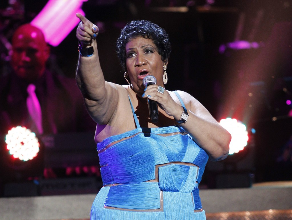 FILE - In this Jan. 14, 2012 file photo, singer Aretha Franklin performs during the BET Honors at the Warner Theatre in Washington. Franklin died Thur...
