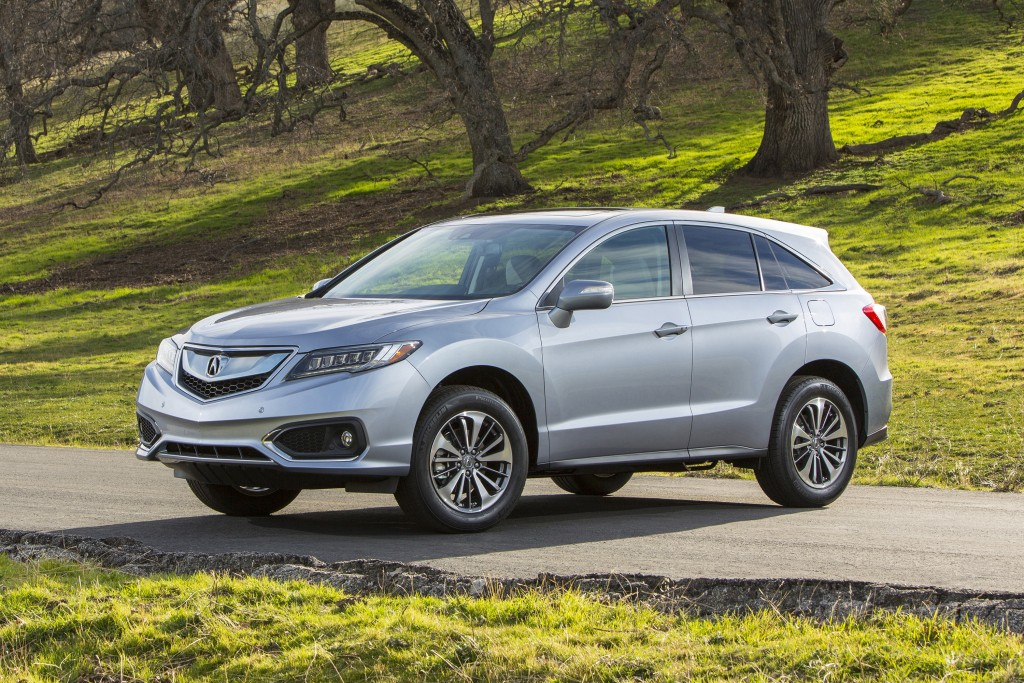 This photo provided by Honda shows the Acura 2016 RDX. Thanks to its strong V6 engine, sporty handling, a long list of tech features, and a good amoun...