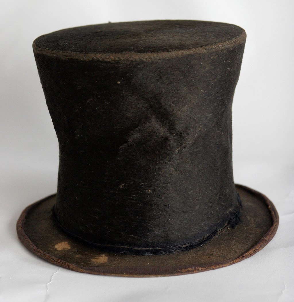 FILE - In this June 14, 2007 file photo, Abraham Lincoln's iconic stovepipe hat is photographed at the Abraham Lincoln Presidential Library and Museum...