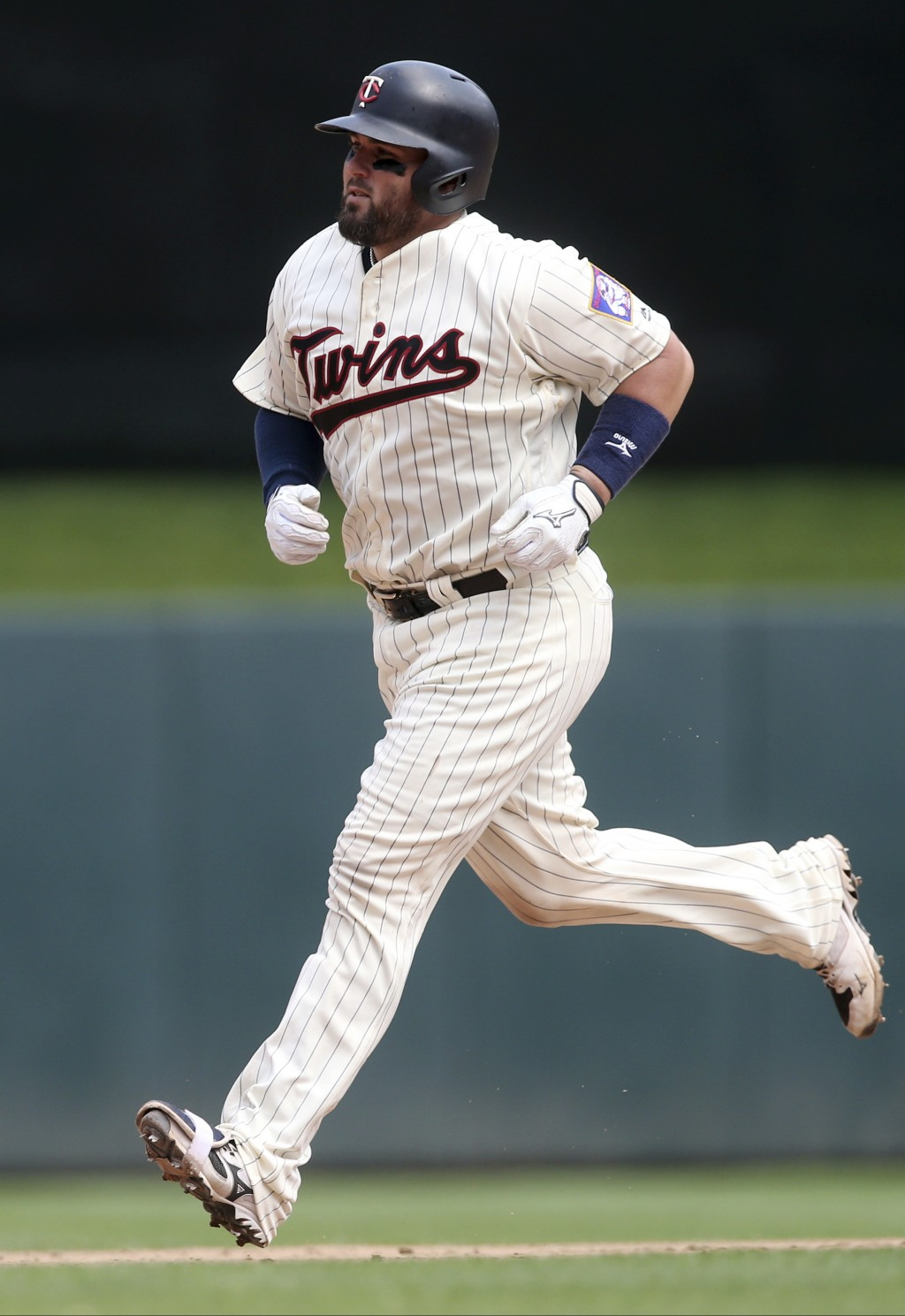 Minnesota Twins' Bobby Wilson rounds the bases on a solo home run off Pittsburgh Pirates' Keone Kela in the seventh inning of a baseball game Wednesda...