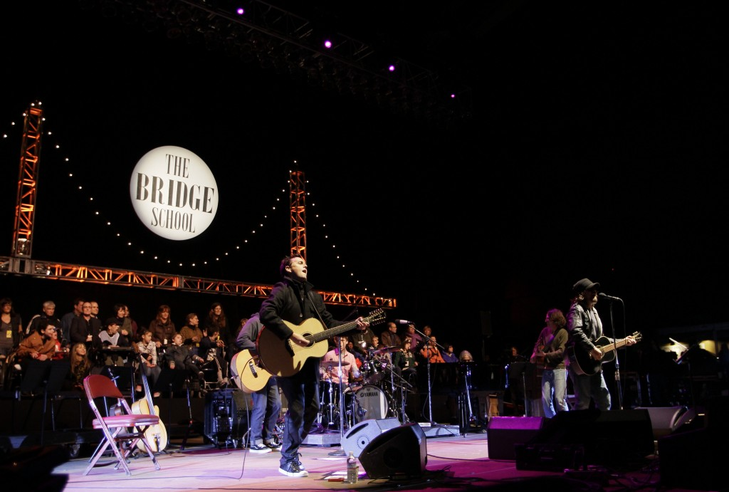 FILE--In this Oct. 23, 2010, file photo, Pearl Jam performs during the Bridge School Benefit concert in Mountain View, Calif. Republicans are condemni...