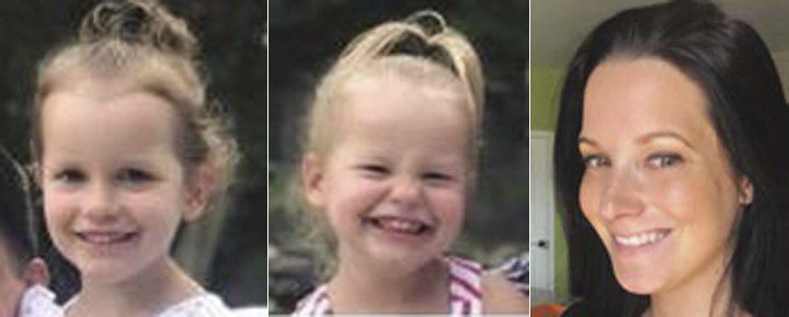 This photo combo of images provided by The Colorado Bureau of Investigation shows, from left, Bella Watts, Celeste Watts and Shanann Watts.  The Frede...