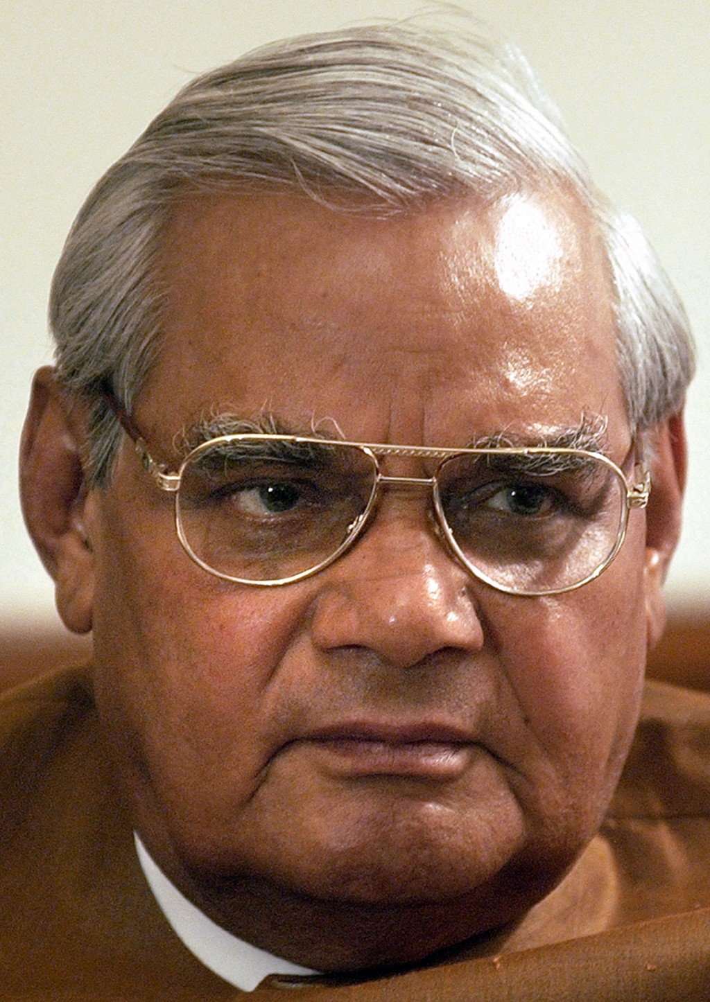 FILE - In this May 14, 2004 file photo, outgoing Indian Prime Minister Atal Bihari Vajpayee attends a meeting with members of his Bharatiya Janata Par...