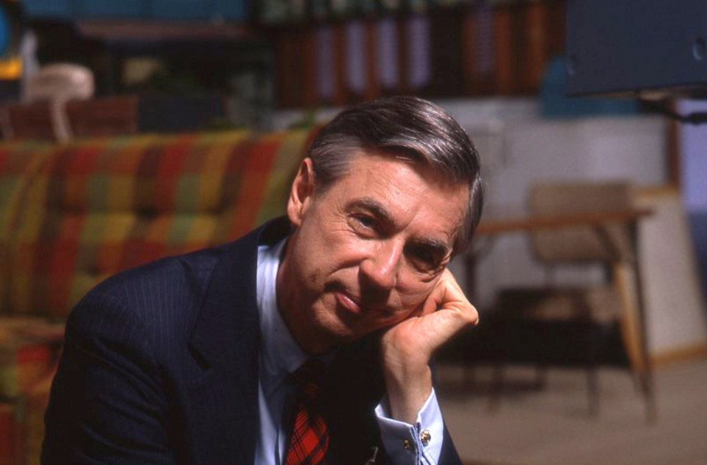 """This image released by Focus Features shows Fred Rogers on the set of his show """"Mr. Rogers Neighborhood"""" from the film, """"Won't You Be My Neighbor."""" (J..."""
