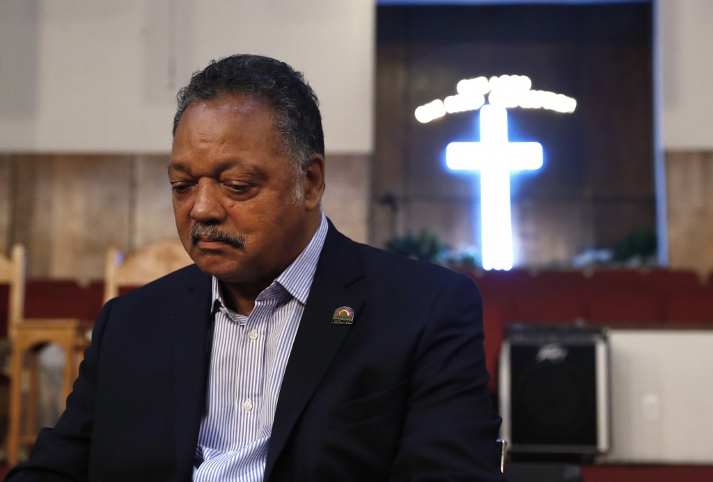 """Rev. Jesse Jackson sits in New Bethel Baptist Church in Detroit, Thursday, Aug. 16, 2018. Aretha Franklin, the undisputed """"Queen of Soul"""" who sang wit..."""