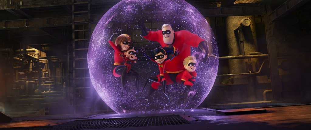 """This image released by Disney Pixar shows a scene from """"Incredibles 2."""" (Disney/Pixar via AP)"""
