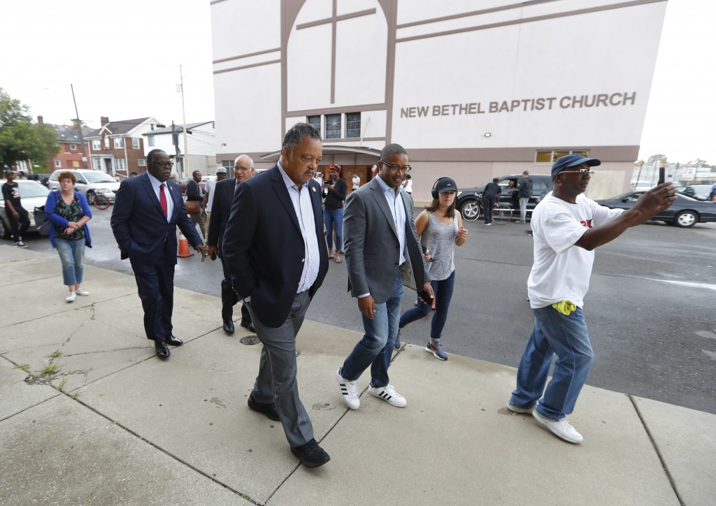 """Rev. Jesse Jackson walks outside New Bethel Baptist Church in Detroit, Thursday, Aug. 16, 2018. Aretha Franklin, the undisputed """"Queen of Soul"""" who sa..."""