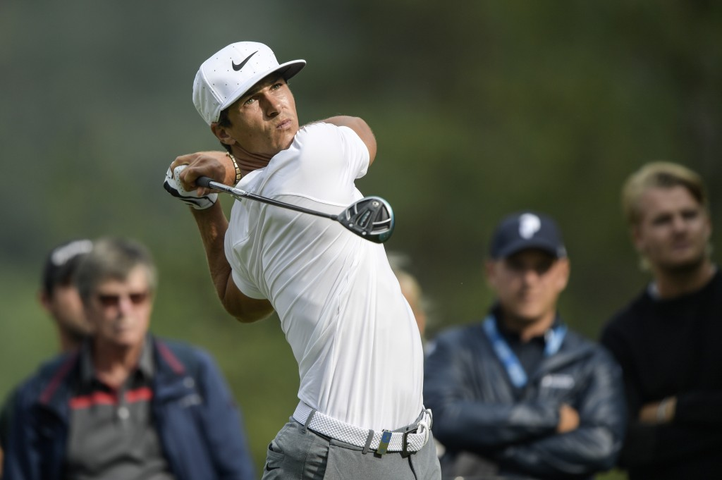 Thorbjorn Olesen of Denmark in action on 12th tee during the first round of the Nordea Masters at Hills Golf Club in Gothenburg, Sweden,  Thursday Aug...