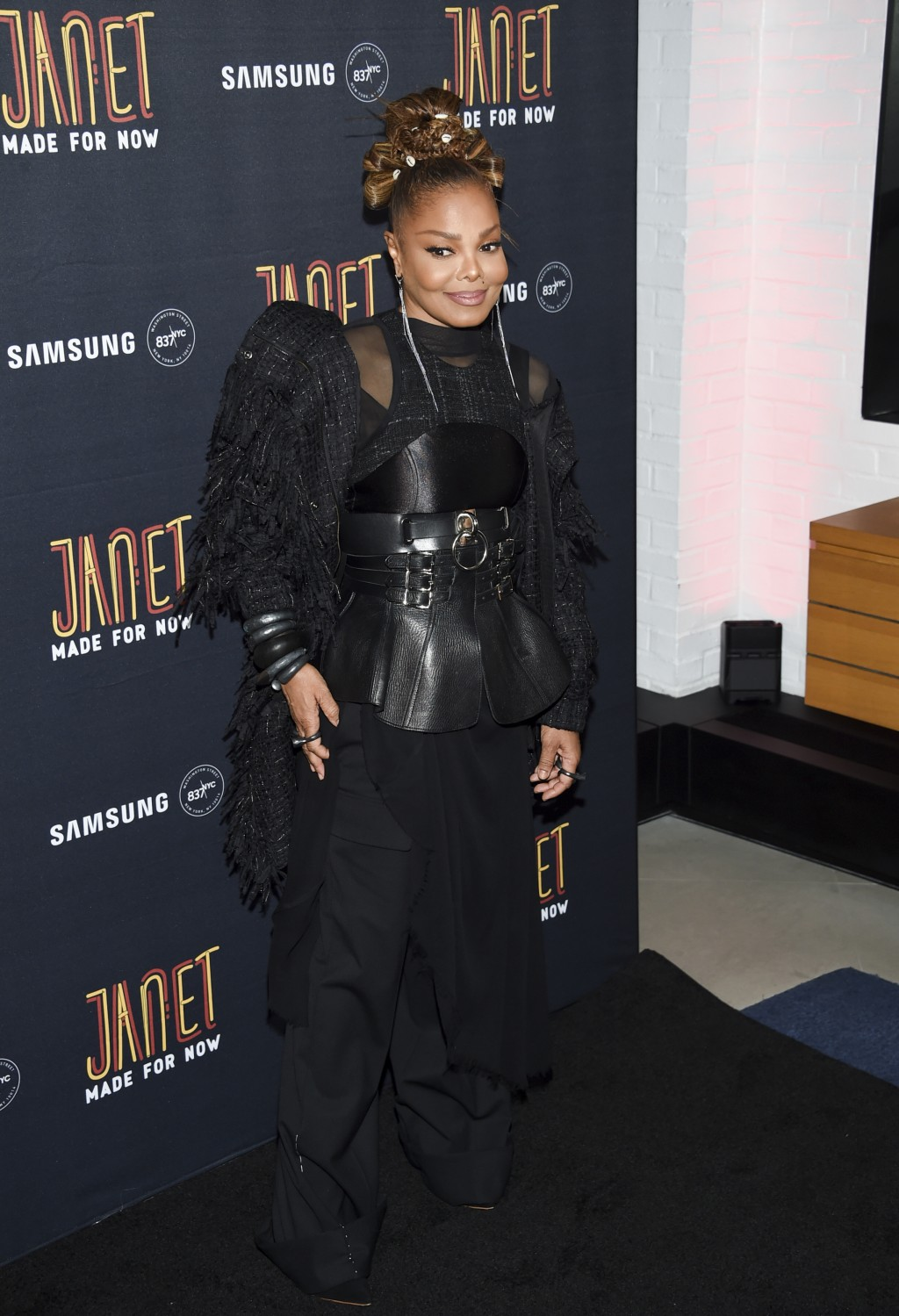 "Singer Janet Jackson attends her ""Made For Now"" single release party at Samsung on Friday, Aug. 17, 2018, in New York. (Photo by Evan Agostini/Invisio..."