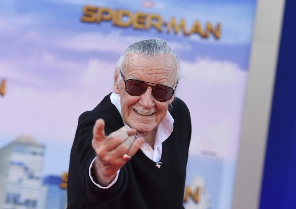 "FILE - In this June 28, 2017 file photo, Stan Lee arrives at the Los Angeles premiere of ""Spider-Man: Homecoming"" at the TCL Chinese Theatre. Lee's re..."