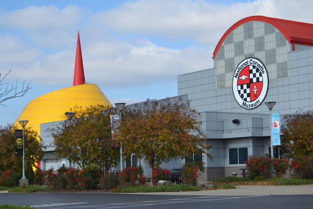 This Nov. 19, 2017 photo shows the exterior of the National Corvette Museum in Bowling Green, Ky. (Photo by Christopher Sullivan) (Christopher Sulliva...