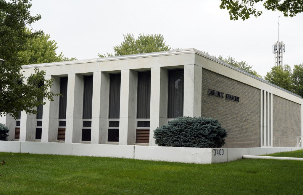 The Aug. 28, 2018 photo shows the Catholic Chancery in Lincoln, Neb. The Diocese of Lincoln, housed in this building, that refused for years to partic...
