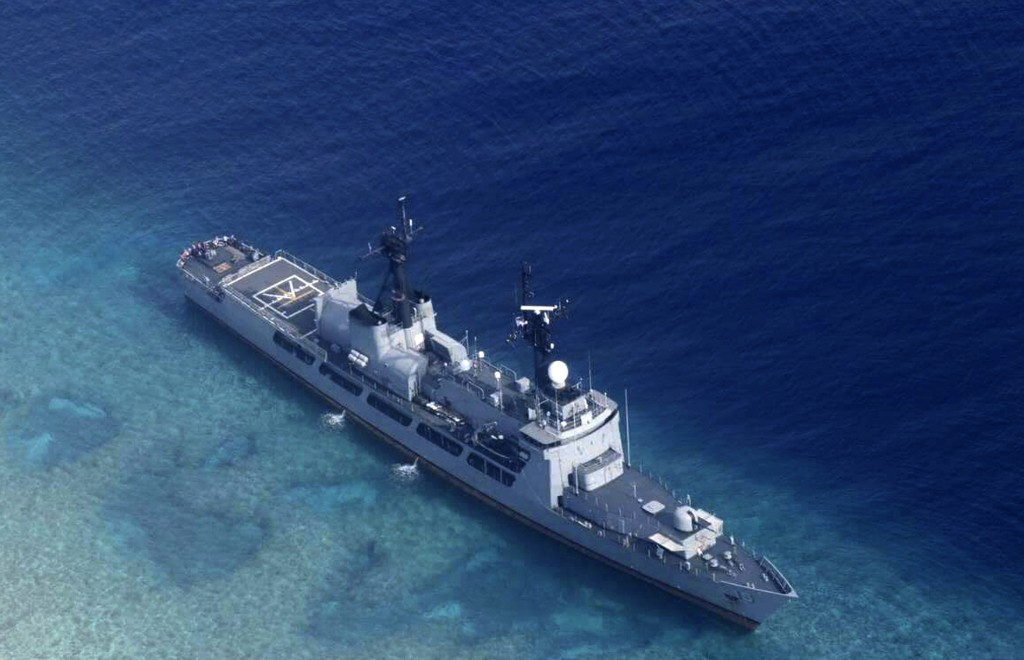 FILE - In this Aug. 31, 2018, file photo provided by the Armed Forces of the Philippines, the Philippine Navy ship BRP Gregorio del Pilar is seen afte