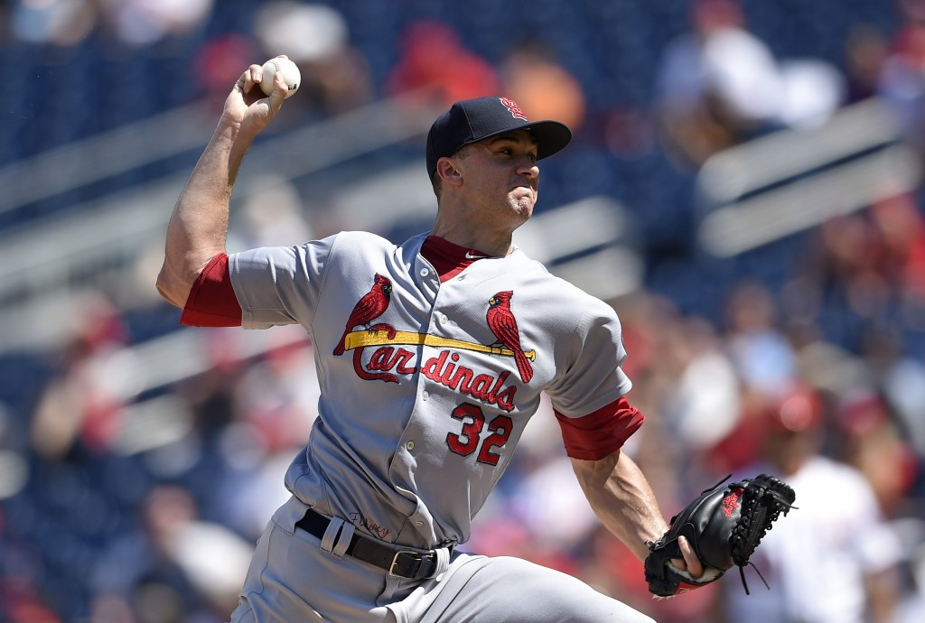 St. Louis Cardinals starting pitcher Jack Flaherty delivers during the second inning of a baseball game against the Washington Nationals, Monday, Sept...