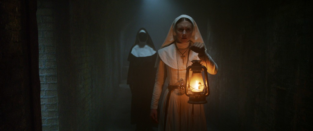 "This image released by Warner Bros. Pictures shows Taissa Farmiga in a scene from ""The Nun."" (Warner Bros. Pictures via AP)"