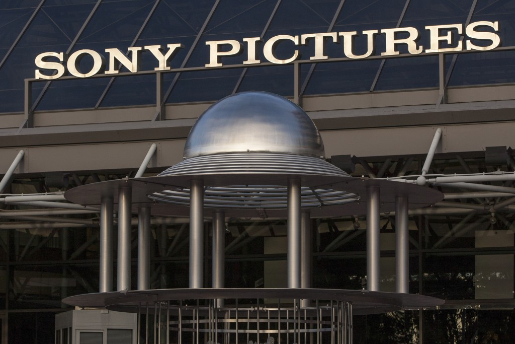 FILE - This Dec. 19, 2014 file photo shows an exterior view of the Sony Pictures Plaza building in Culver City, Calif.  The Justice Department has cha...