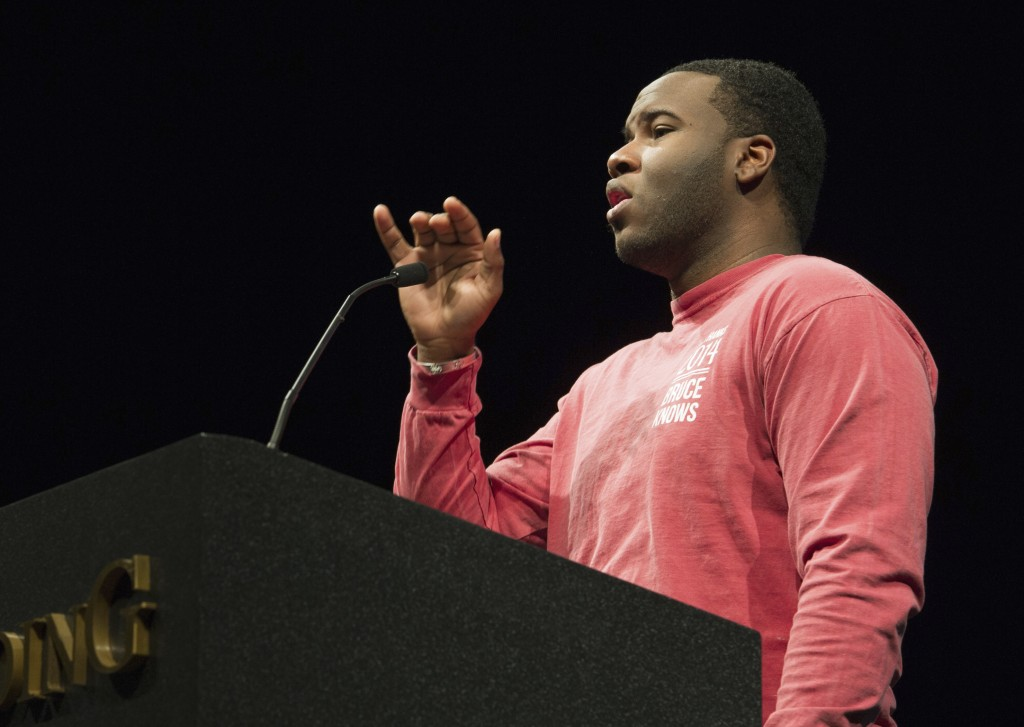 This March 24, 2014, photo provided by Harding University in Searcy, Ark., shows Botham Jean, speaking at the university. Authorities said Friday, Sep