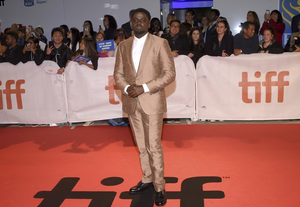 """Daniel Kaluuya attends the premiere for """"Widows"""" on day 3 of the Toronto International Film Festival at Roy Thomson Hall on Saturday, Sept. 8, 2018, i"""