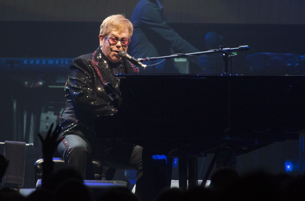 "Elton John performs in concert during the opening night of his ""Farewell Yellow Brick Road World Tour"" at the PPL Center on Saturday, Sept. 8, 2018, i"