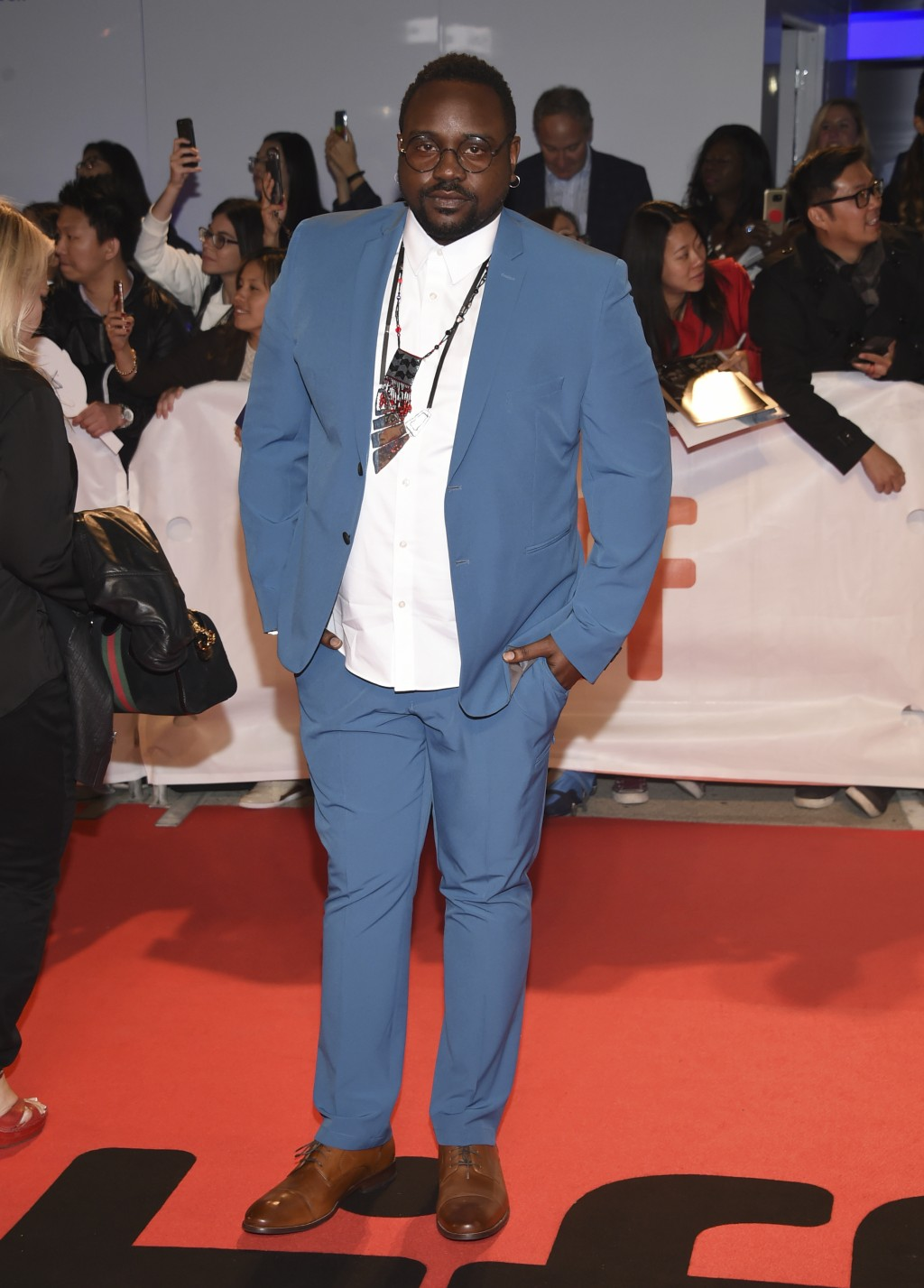 """Brian Tyree Henry attends the premiere for """"Widows"""" on day 3 of the Toronto International Film Festival at Roy Thomson Hall on Saturday, Sept. 8, 2018"""