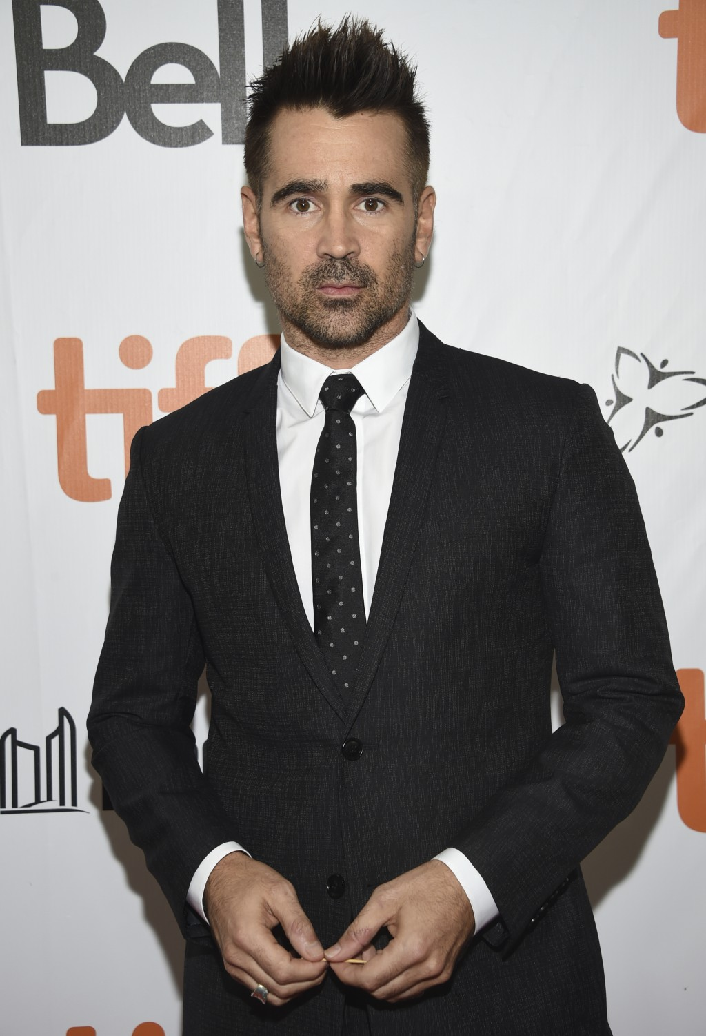"""Colin Farrell attends the premiere for """"Widows"""" on day 3 of the Toronto International Film Festival at Roy Thomson Hall on Saturday, Sept. 8, 2018, in"""