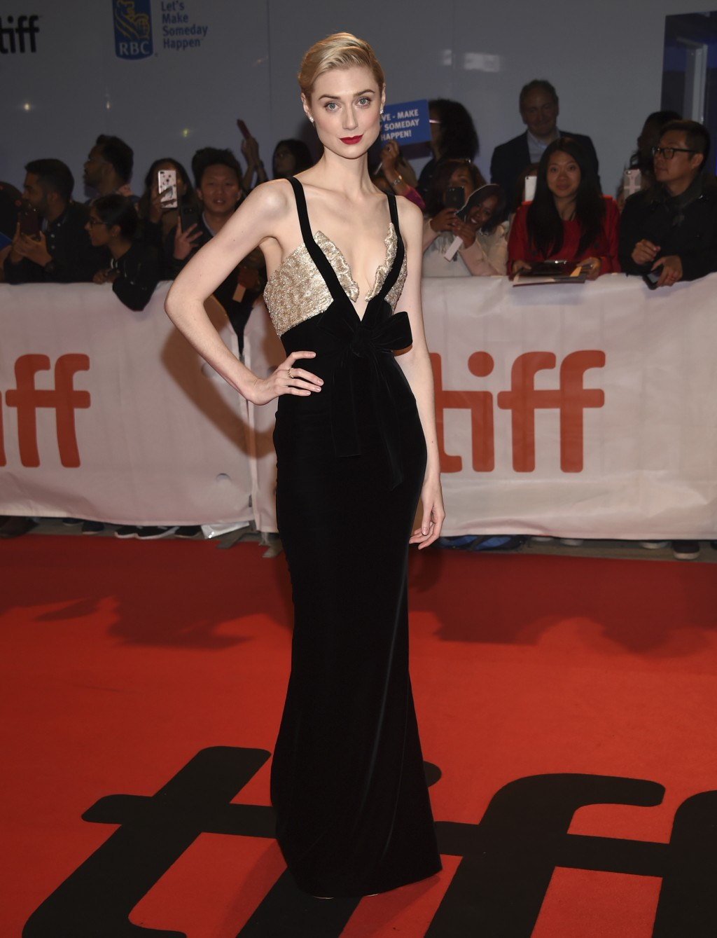 """Elizabeth Debicki attends the premiere for """"Widows"""" on day 3 of the Toronto International Film Festival at Roy Thomson Hall on Saturday, Sept. 8, 2018"""