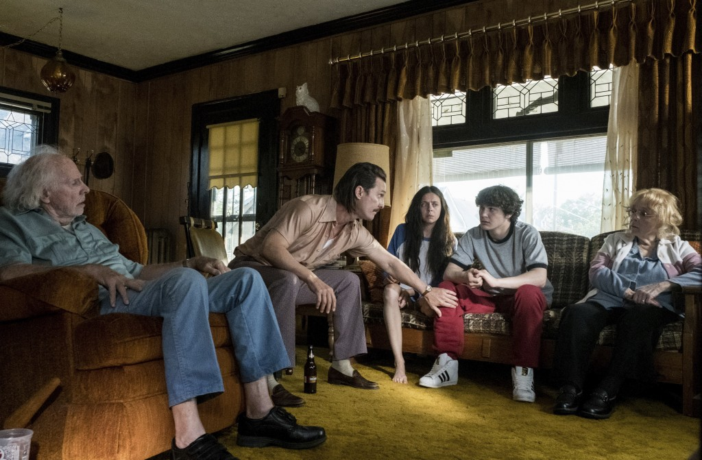 "This image released by Sony Pictures shows Bruce Dern, from left, Matthew McConaughey, Bel Powley, Richie Merritt and Piper Laurie in a scene from ""Wh"