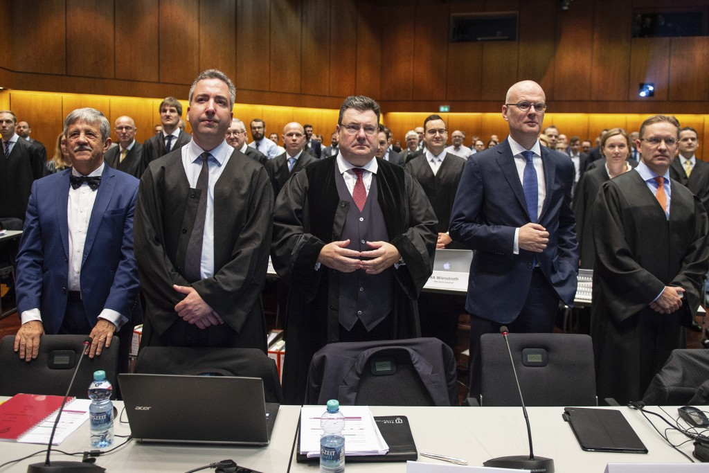 Andreas W. Tilp, lawyer of the plaintiff, waits for the opening of a lawsuit against Volkswagen on compensation for the losses of shareholders caused