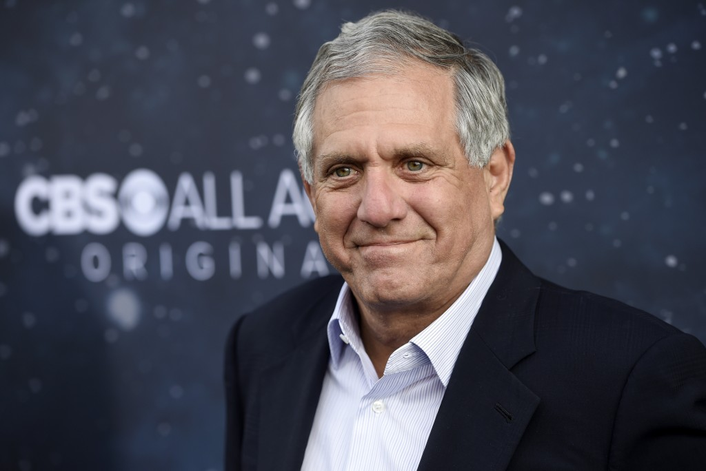 "FILE - In this Sept. 19, 2017, file photo, Les Moonves, chairman and CEO of CBS Corporation, poses at the premiere of the new television series ""Star ..."