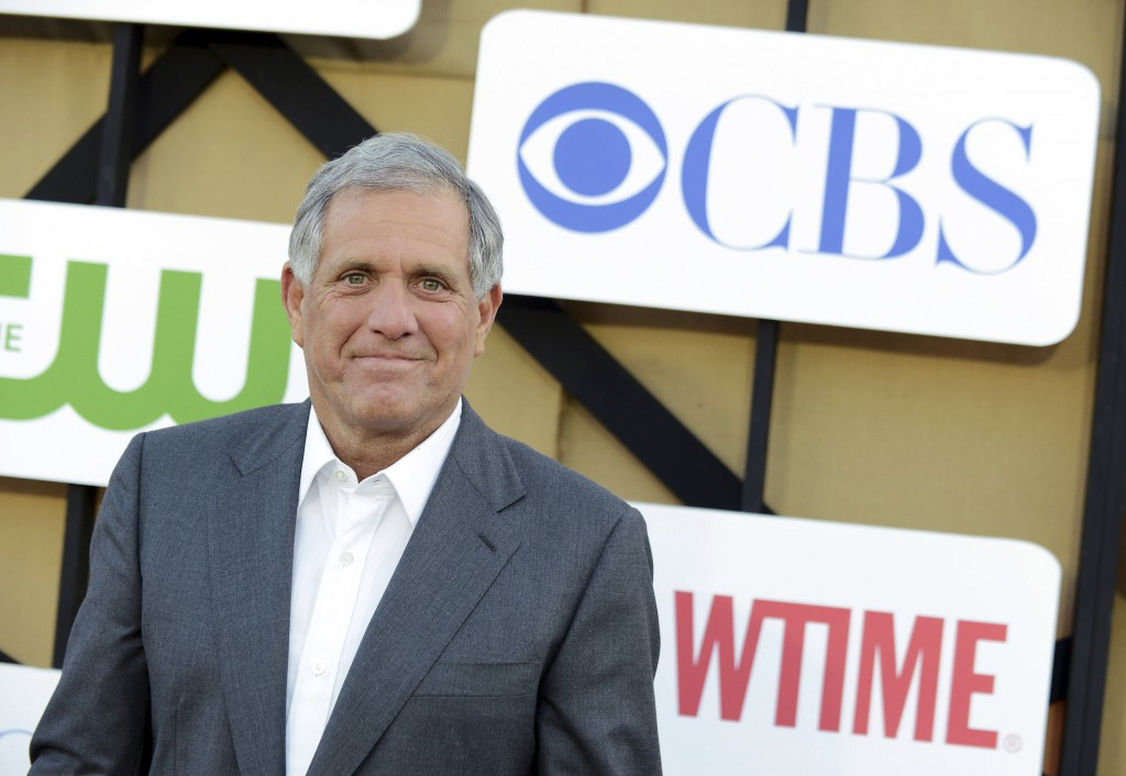 FILE - In this July 29, 2013, file photo, Les Moonves arrives at the CBS, CW and Showtime TCA party at The Beverly Hilton in Beverly Hills, Calif.  On...