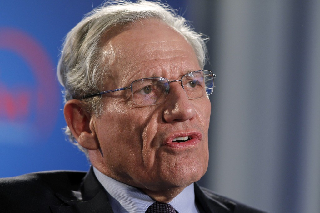 FILE - This June 11, 2012 file photo shows former Washington Post reporter Bob Woodward speaking during an event to commemorate the 40th anniversary o
