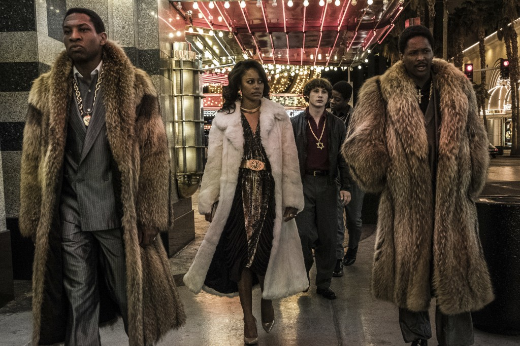 "This image released by Sony Pictures shows Jonathan Majors, from left, Taylour Paige, Richie Merritt, RJ Cyler and YG in a scene from ""White Boy Rick."