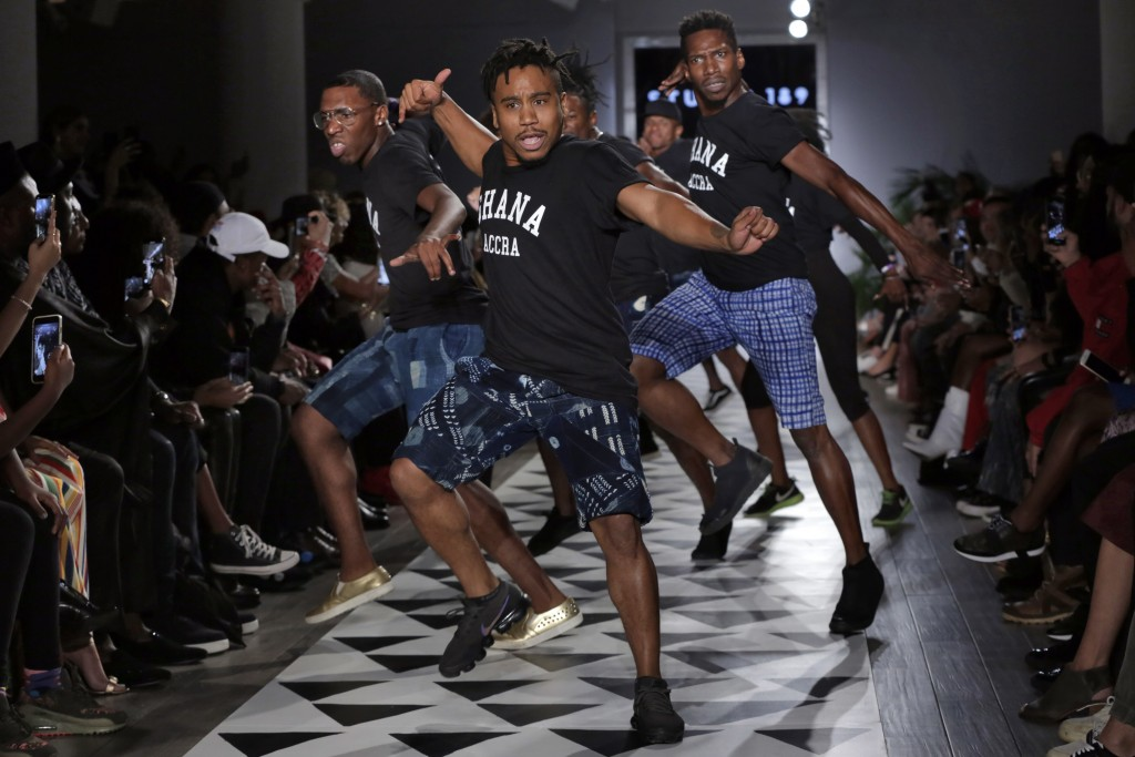 Dancers perform in the finale of the Studio 189 spring 2019 collection during Fashion Week in New York, Monday, Sept. 10, 2018. (AP Photo/Richard Drew