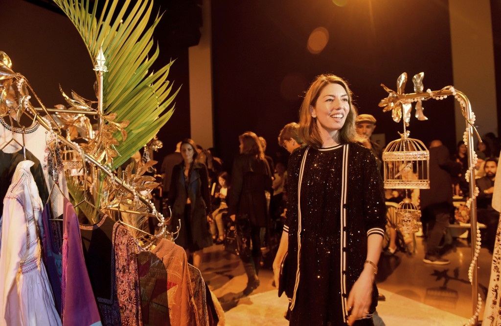 Sofia Coppola walks through a bazaar set up on the runway before the Anna Sui spring 2019 collection is shown at New York Fashion Week, Monday, Sept.