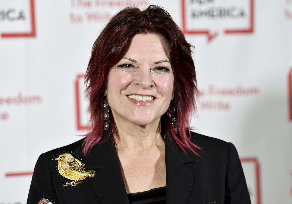FILE - In this May 22, 2018 file photo, Rosanne Cash attends the 2018 PEN Literary Gala in New York. Cash will receive the Spirit of Americana Free Sp