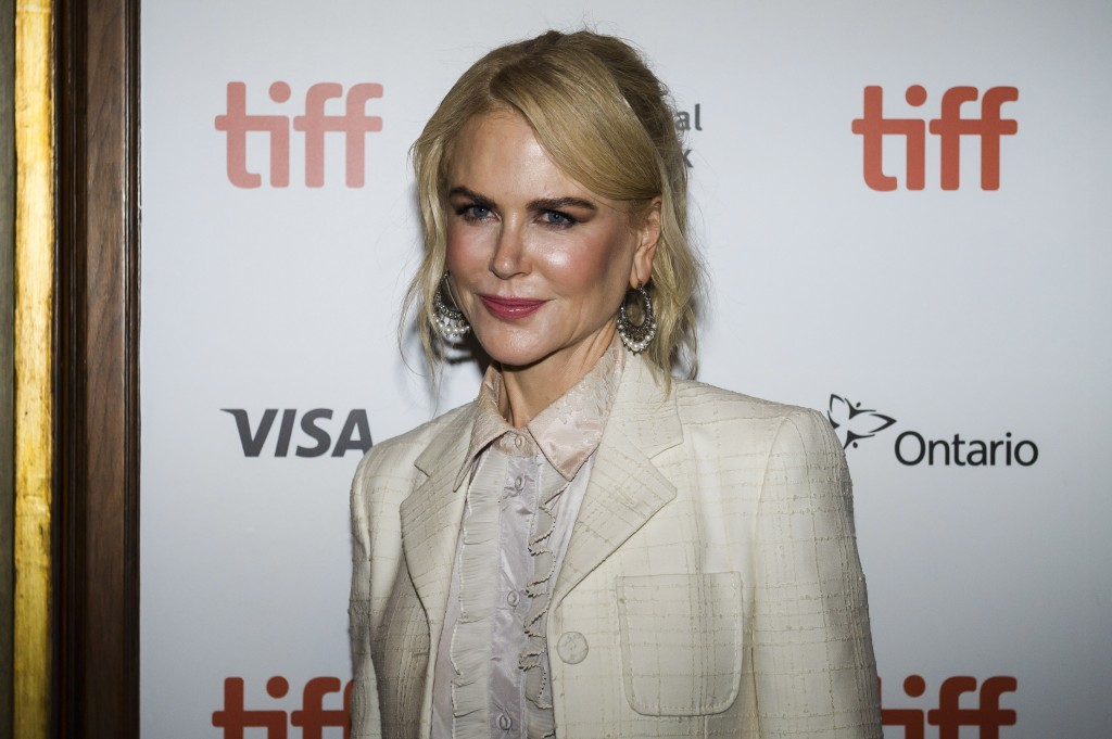 "Actor Nicole Kidman arrives ahead of the screening of ""Destroyer"" during the Toronto International Film Festival in Toronto, Monday, Sept. 10, 2018. ("