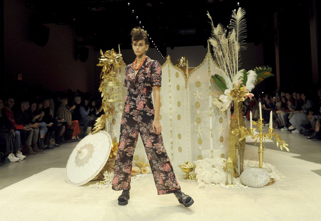 Kaia Gerber walks the runway at the Anna Sui spring 2019 show during New York Fashion Week, Monday, Sept. 10, 2018. (AP Photo/Diane Bondareff)